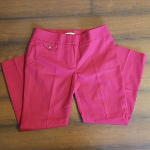Loft Fuschia Dress Pants